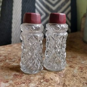 Vintage Cut Glass Salt & Pepper Shakers - Japan